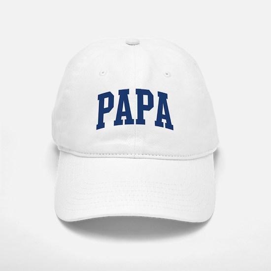 PAPA design (blue) Baseball Baseball Cap