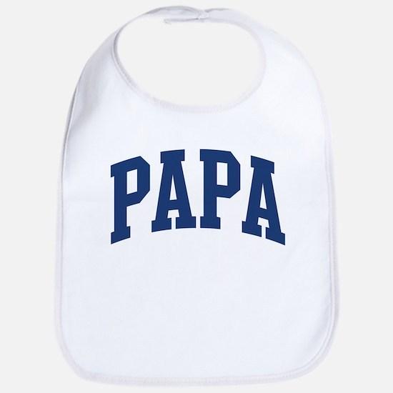 PAPA design (blue) Bib
