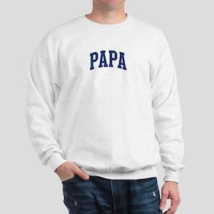 PAPA design (blue) Sweatshirt