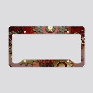 Steampunk, heart with floral elements License Plat