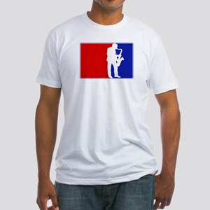 Major League Saxaphone Fitted T-Shirt