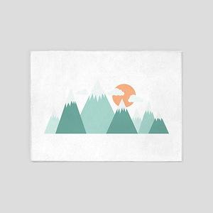 Snowy Mountains 5'x7'Area Rug