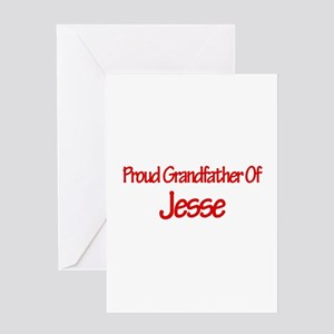 Proud Grandfather of Jesse Greeting Card