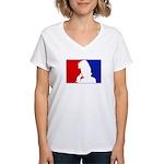 Major League Rock Women's V-Neck T-Shirt