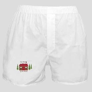 Log Cabin Woods Boxer Shorts