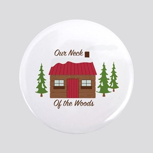 Log Cabin Woods Button