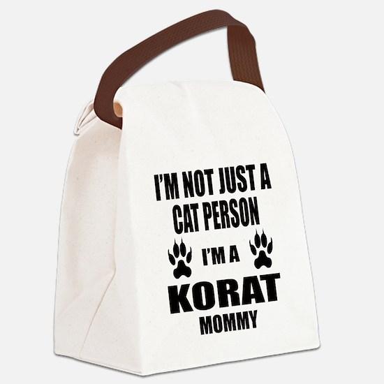 I'm a Korat Mommy Canvas Lunch Bag