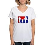 Major League Parenting Women's V-Neck T-Shirt