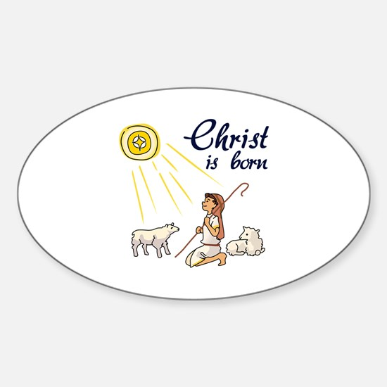 Christ Is Born Decal