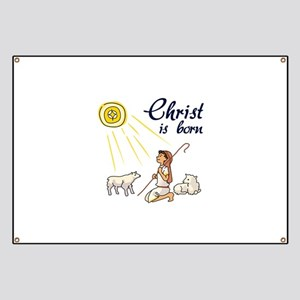 Christ Is Born Banner