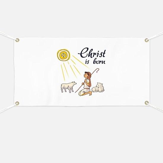 Christ Is Born Banner