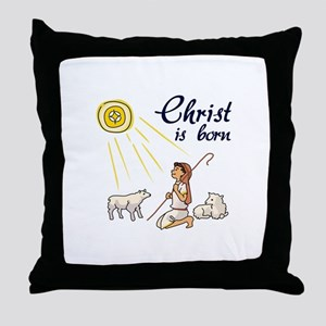 Christ Is Born Throw Pillow