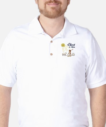 Christ Is Born Golf Shirt