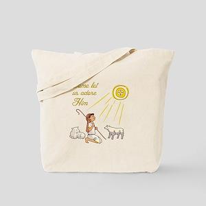Come Let Us Adore Him Tote Bag