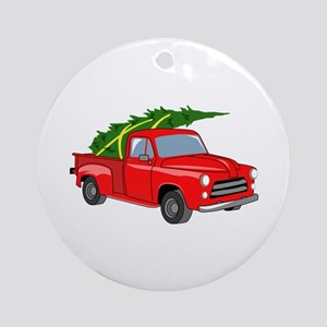 Bringing Tree Home Round Ornament