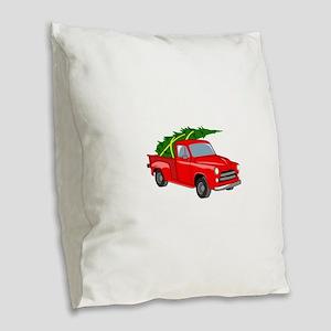 Bringing Tree Home Burlap Throw Pillow