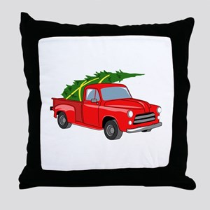 Bringing Tree Home Throw Pillow