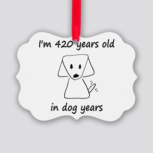 60 dog years 6 - 2 Ornament