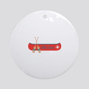 Get Lost Canoe Round Ornament