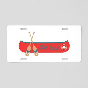 Get Lost Canoe Aluminum License Plate