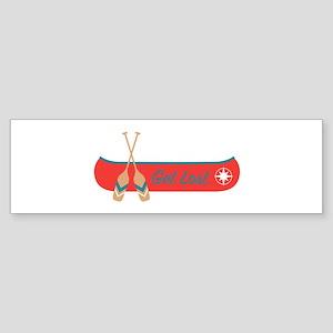 Get Lost Canoe Bumper Sticker