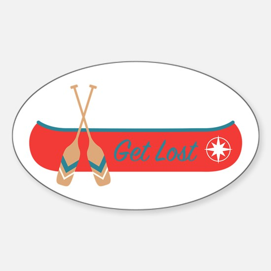Get Lost Canoe Decal