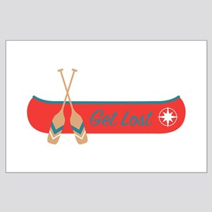 Get Lost Canoe Posters
