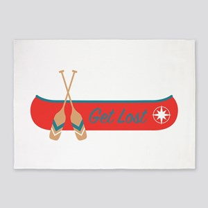 Get Lost Canoe 5'x7'Area Rug