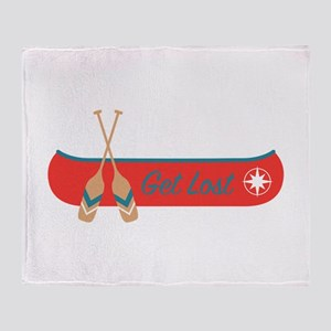 Get Lost Canoe Throw Blanket
