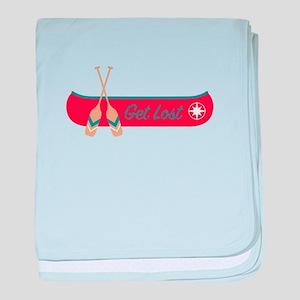 Get Lost Canoe baby blanket