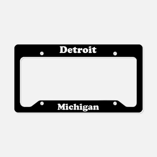 Detroit MI License Plate Holder