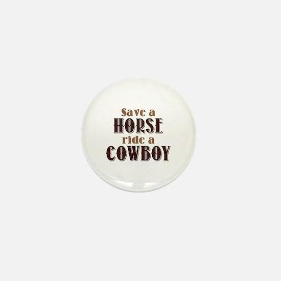 Save A Horse Mini Button