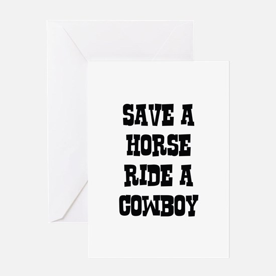 Save A Horse Greeting Card
