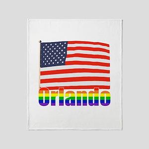 Orlando Rainbow Throw Blanket