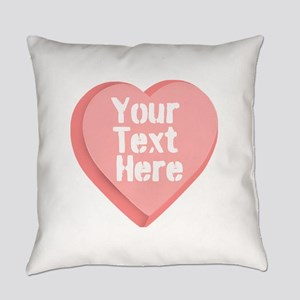 Candy Heart Everyday Pillow
