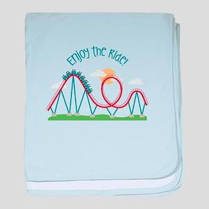 Enjoy The Ride baby blanket