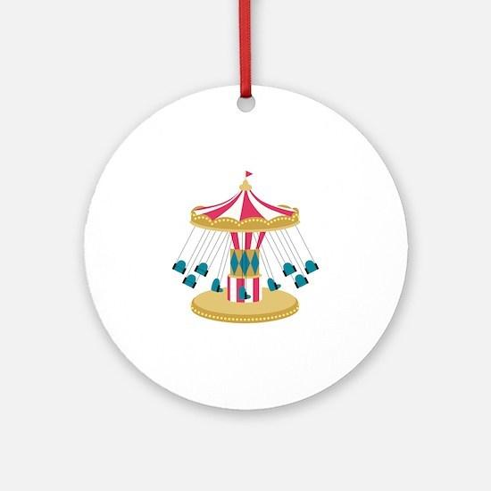 Carnival Swings Round Ornament