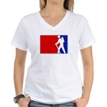 Major League Hiking Women's V-Neck T-Shirt