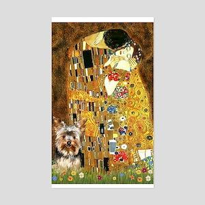 The Kiss by Klimpt & Yorkie 1 Sticker (Rectangular