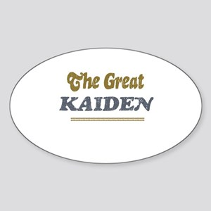 Kaiden Oval Sticker
