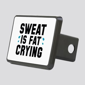 Sweat Is Fat Crying Rectangular Hitch Cover