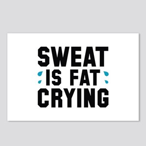 Sweat Is Fat Crying Postcards (Package of 8)