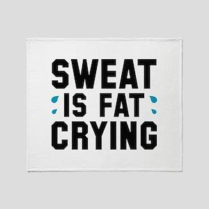 Sweat Is Fat Crying Stadium Blanket