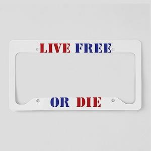 Live Free Or Die License Plate Holder