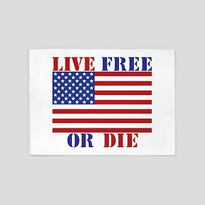 Live Free Or Die 5'x7'Area Rug
