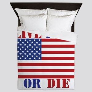 Live Free Or Die Queen Duvet