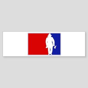 Major League Firefighter Bumper Sticker