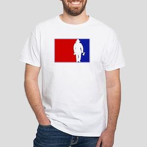 Major League Firefighter White T-Shirt