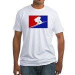 Major League Downhill Skiing Fitted T-Shirt