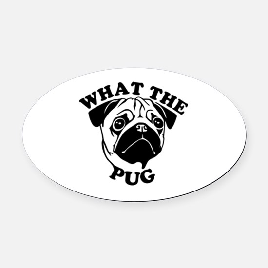 Unique Love pugs Oval Car Magnet